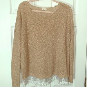 Sweaters - Ladies Sweater with Lacey bottom